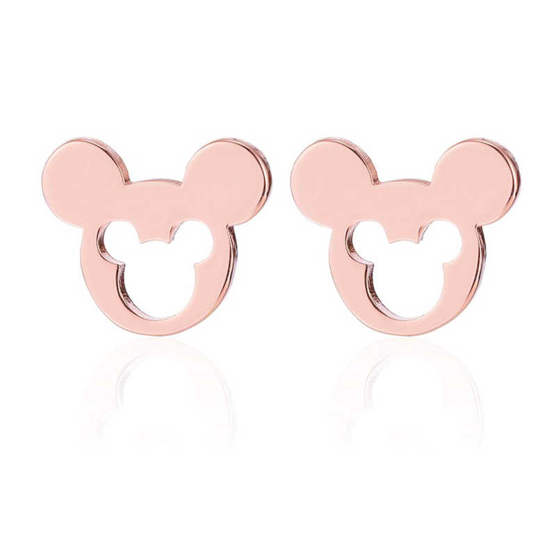 Yiustar Mini Minúsculo Mickey Mouse Brinco Brincos para As Mulheres Crianças Brinco Pregos Orelha Pendientes de Pequenos Animais Dos Desenhos Animados do Filme Jóias