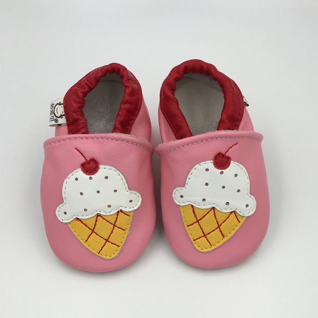 Baby Girl Shoes Cartoon Loafers Genuine Leather Newborn Crib Shoes Infant Toddler Slipper Casual Prewalker Fashion Footwear