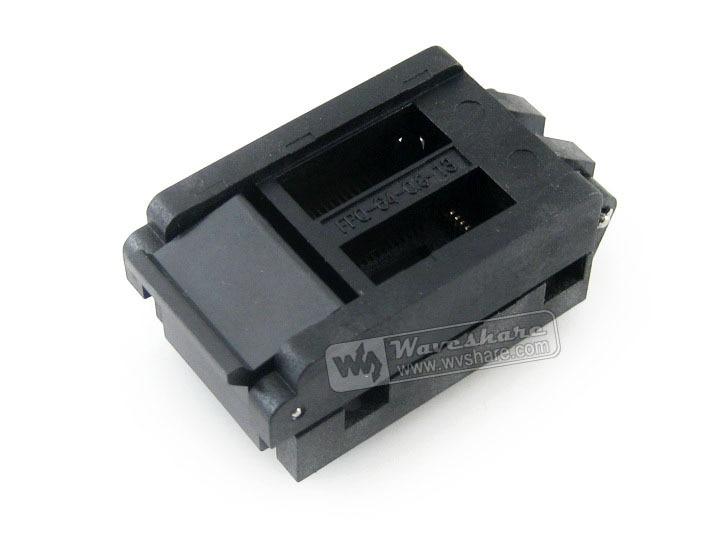все цены на Hot selling! FPQ-64-0.8-13 Enplas IC Test Socket Adapter 0.8mm Pitch QFP64 TQFP64 FQFP64 PQFP64 Package Free Shipping онлайн