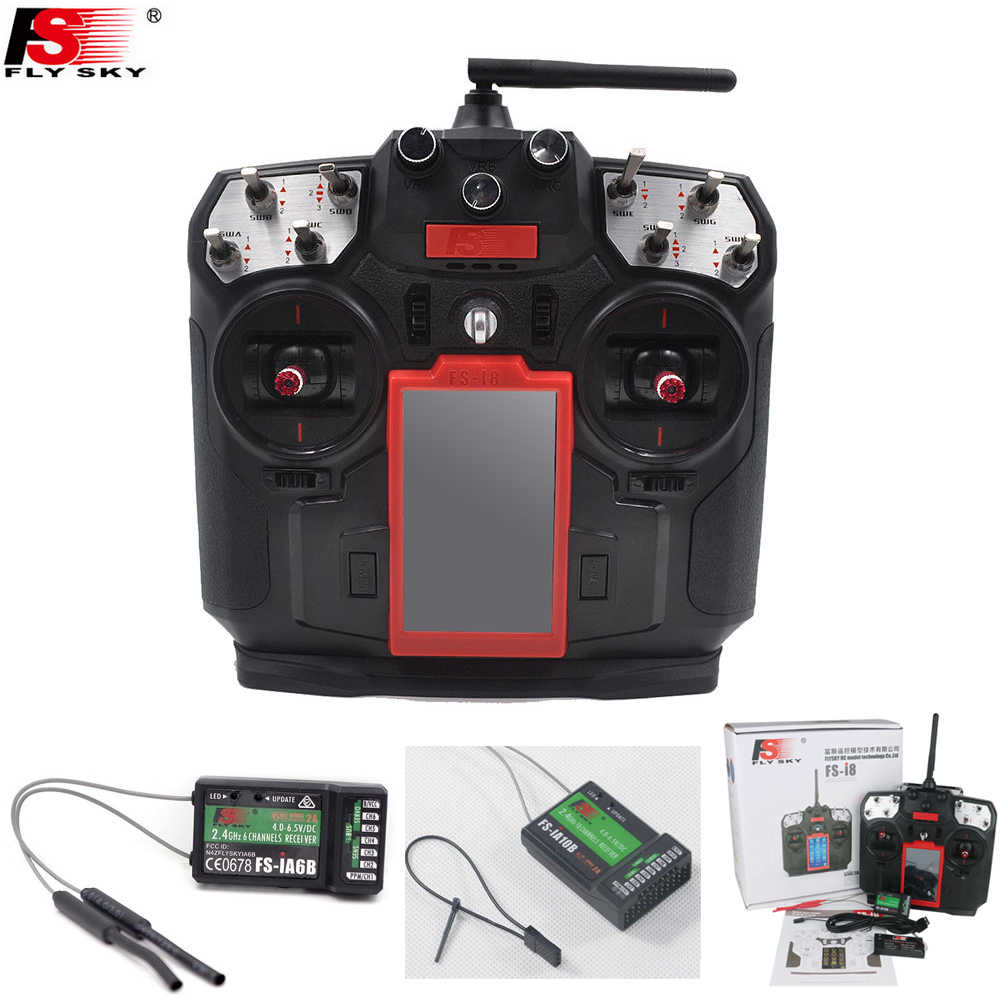 Flysky FS-I8 8 Channel Transmitter with IA10B / IA6B Receiver RC Remote  Conroll 2 4G 8CH for RC Mini Drone Airplanes Quadcopter