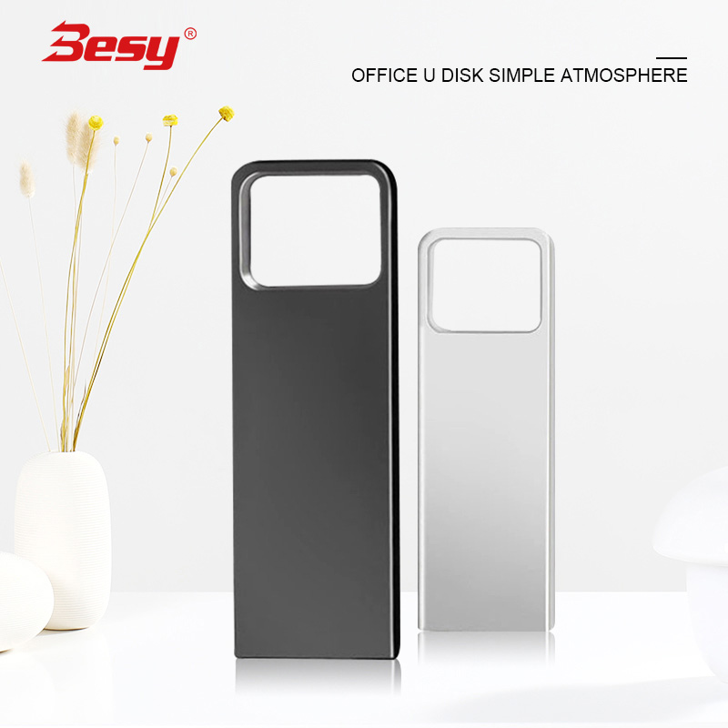 2.0 USB Flash Drive 32GB 64GB 128GB 8GB 16GB Waterproof Pendrive Memoria Metal Stick High Speed 16 32 64 8 128 GB Pen Drive(China)