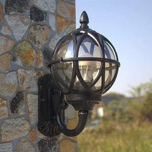 Античный внешний наружный водонепроницаемый фонарь настенный светильник масло потертое стекло Вилла балкон двор сад настенное бра для кор...