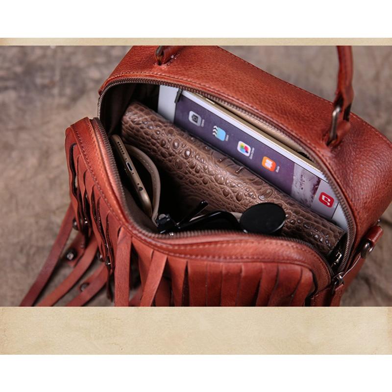 Rétro À 2018 Véritable Bjyl Vintage Luxe Rivet Gland Mode Sac Cuir Messager Bandoulière Sacs De rouge Noir prune Femmes Épaule marron bourgogne Nouveau Main 0OXwPk8n