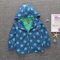 2017 outono e inverno meninos casaco de inverno pentagrama impresso kid roupa do bebê meninos casacos e jaquetas crianças casuais jaqueta com capuz