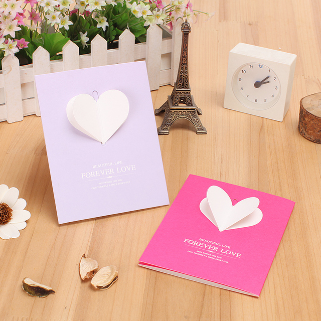 Wholesale valentines day greeting card diy heart shaped folded wholesale valentines day greeting card diy heart shaped folded exquisite small gift card m4hsunfo