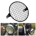 "6.3"" Retro Motorcycle Grill Side Mount Headlight lamp Cover Mask Cafe Racer Motorcycle lamp protect Grill"