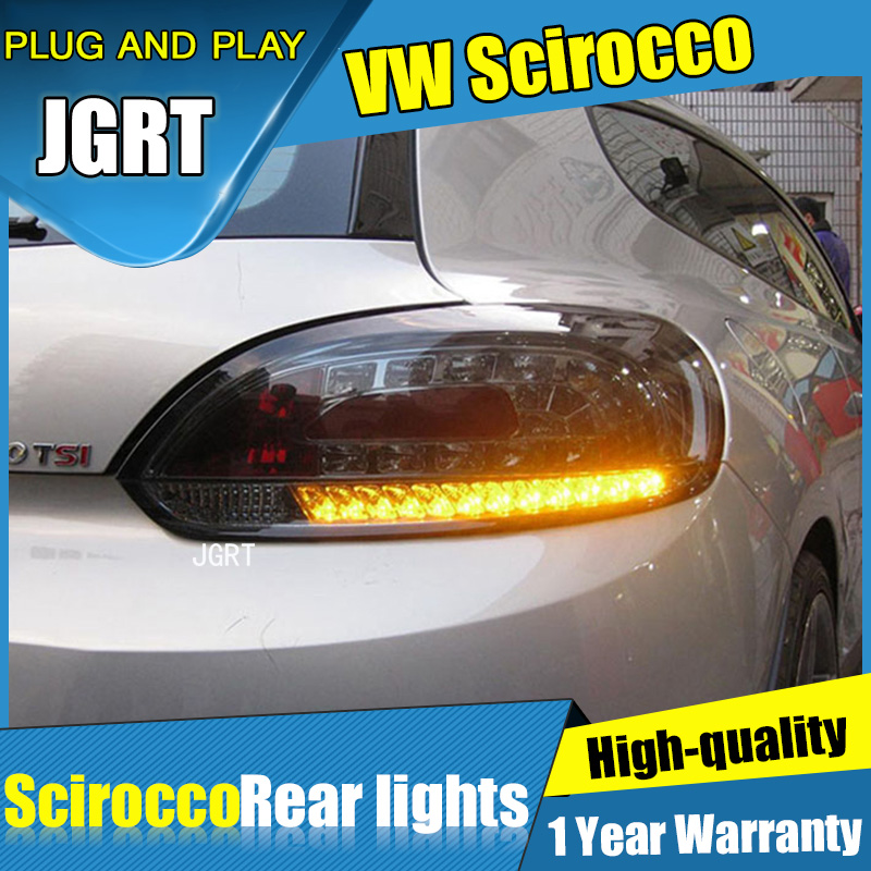 2PCS Car Styling for vw Scirocco Taillights 2009-2014 for Scirocco LED Tail Lamp+Turn Signal+Brake+Reverse LED light