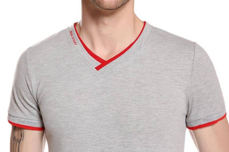 gustomerd 2017 летняя мода марка одежды мужская с коротким рукавом футболки с V-образным вырезом сплошной цвет футболки повседневная тонкий Fit т рубашка мужчины