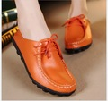 Spring Women Shoes 2017 New Fashion Genuine Leather Single Flat Shoes Woman Soft Mother Maternity Shoes Women Flats