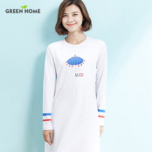 New Casual Maternity Dress Long Sleeve nursing Brief White Printing Dress for Pregnancy Clothes Winter Breast
