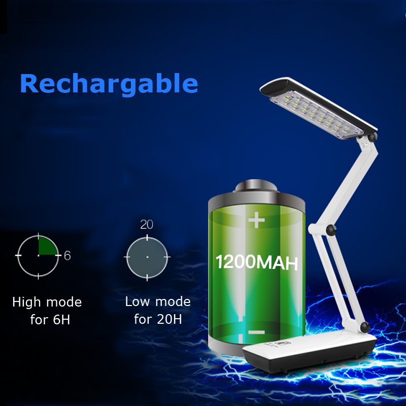 2016 YAGE 3979 Table Lamp Night Light Led Desk Reading Books Usb Foldable 3-layer Body Revolvable Holder 2-mode EU/USA/UK Plug