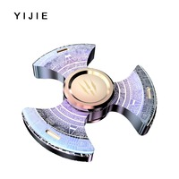 2017 Fidget Spinners Metal Tri Hand Spinner Gyro Spinning Top Stress Relief EDC Beyblade Finger Toys