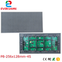 P8 Outdoor high brightness smd3535 led module 1/4 scan 10mm led waterproof panel