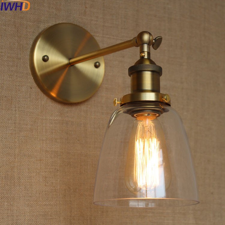 IWHD Industrial Vintage Loft Wall Lamp Led Retro Iron Glass Sconce wall Lights For Home Lighting Fixtures Luminaire On the Wall iwhd loft vintage led wall lamp glass lampshade retro industrial wall lights bedside light fixtures for home lighting luminaire