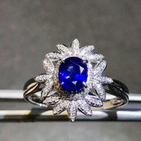 Hot Sale New Style Gemstone K Gold Ring Hand Jewelry MEDBOO 18k White Gold Inlaying Natural