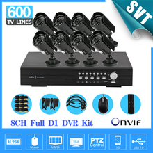 NVR CCTV 8CH Security System 600TVL IR outdoor Camera Full D1 Network DVR , support HDMI,3G,WIFI, 8 Channel homesurveillance Kit