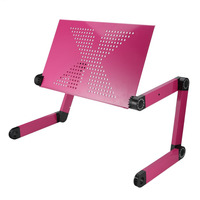 Portable 360 Degree Adjustable Laptop Notebook Table Stand Tray Lazy Foldable Aluminum Alloy Computer Desk
