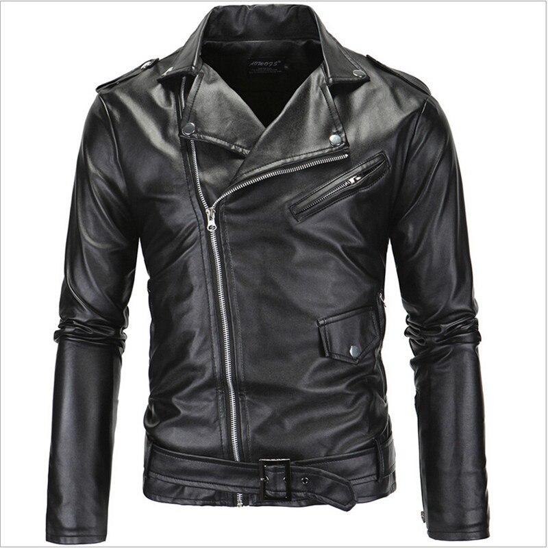 2019 hommes vestes en cuir Pu moto hommes vestes en cuir hommes manteau Jaqueta De Couro Masculina vestes en cuir A2179