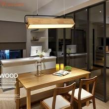 Nordic Wooden Pendant Lamps Hanging Lighting Fixture Dining room Table Living Bedroom Office Bar Cafe Modern Wood Pendant Lights недорго, оригинальная цена