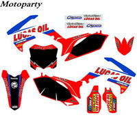 Details about ONE TEAM for HONDA a Set Stickers Kits 09 10 11 12 CRF450R & 10 11 12 13 CRF250R Number name letter customization