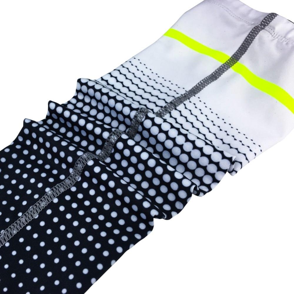Arm Sleeves Polka Dot Man Baseball Long Cooling Sleeves Sun UV Compression Arm Covers