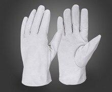 Бесплатная доставка 2 пар качество натуральная кожа мягкая кожа безопасности защитные перчатки