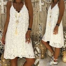 4xl 5xl Summer Sexy V Neck Sleeveless Lace Large Size Slip Dress Short Loose Sundress Plus Solid Mini Party Dresses Women