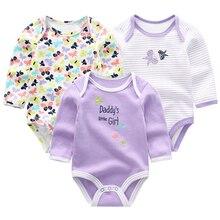 Одежда для новорожденных мальчиков; хлопковый комбинезон с длинными рукавами для малышей; комбинезон с воротником для девочек; костюм для младенцев
