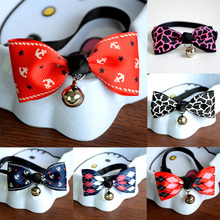 Lovely, adjustable cat bell bowknot / necklace