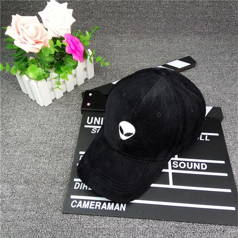 bf75b51c138244 Alien Baseball Cap For Men Women Snapback Hat Corduroy Outdoor Sunhats Hip  Hop Cap Gorra Bone Hat Adjustable -in Men's Baseball Caps from Apparel ...