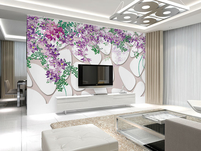 WHITNEYSQfloral and stone modern design patterns home wall decal ...