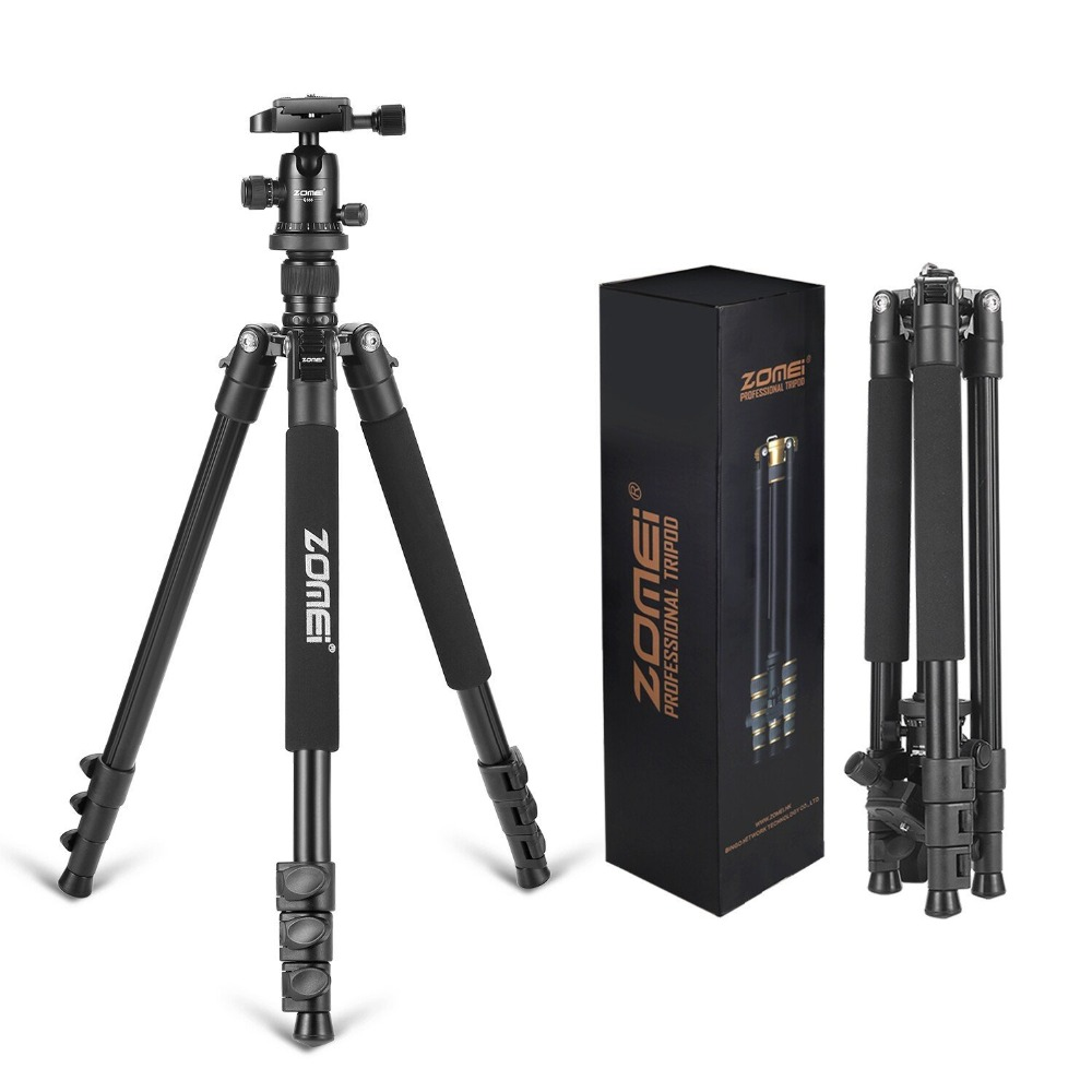 Zomei Q555 Lightweight Alluminum Alloy Camera Tripod with 360 Degree Ball Head + 1/4