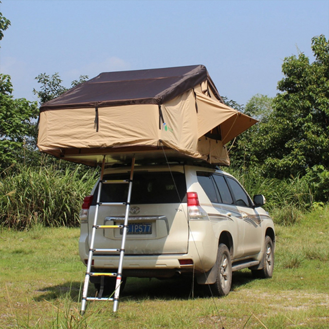 Factory sale cheap price aluminum pole waterproof family folding tent car roof top tent with rainproof sunscreen can be OEM
