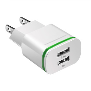 Image 3 - Phone Charger 2 Ports USB Charger EU US Plug LED Light 5v/2a Wall Adapter Mobile Phone Charging For iPhone iPad Samsung HTC