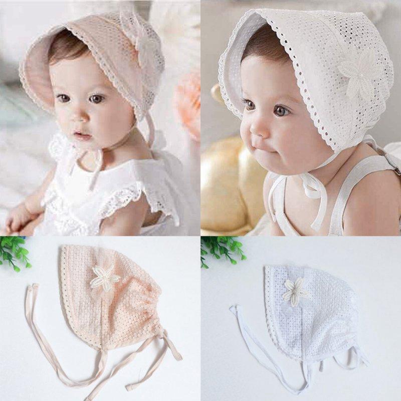 9edbdd5112c4 Newborn Baby Girls Princess Hats Cap Cotton Palace Hat Cute Sun Hats ...