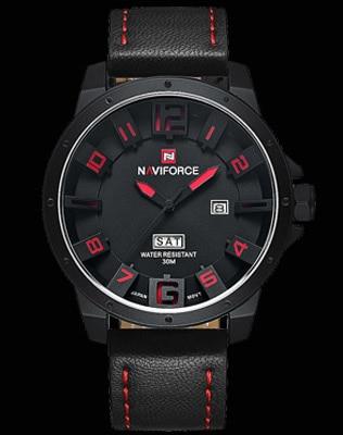 2016 NAVIFORCE Marque Hommes de Mode Casual Sport Montres Hommes Étanche En Cuir Quartz Montre Homme militaire Horloge Relogio Masculino 16