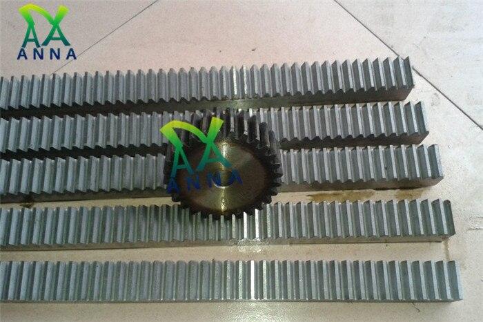 2Pcs/lot 1.5Mod 1.5 Modulus High Precision Gear Rack Steel 15*15*500mm + 2Pcs 1.5M 16teeth Pinion Cnc Rack Mod 1.5 Rack