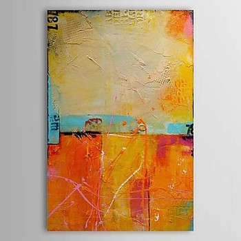 One Panel Hand-painted Oil Painting on Canvas Vintage Modern Abstract Canvas Painting Pictures for Living Room Bedrooms