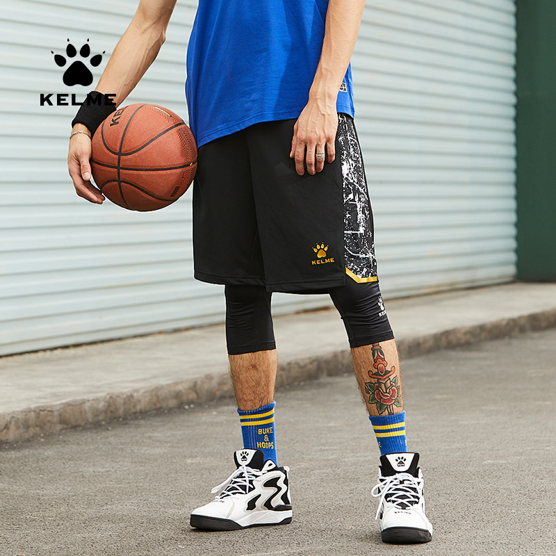 Kelme Mens Outdoor Sports Basketball Soccer Training Leisure Shorts Loose Breathable Beach Shorts 3591347
