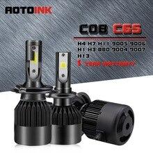 AOTOINK 2x H1 H3 H4 H7 H8 H11 LED 9005 9006 H16 880 881 Car Headlight