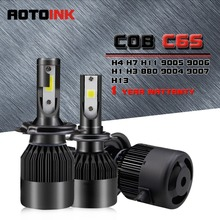 AOTOINK 2x H1 H3 H4 H7 H8 H11 LED 9005 9006 H16 880 881 Car Headlight Fog Light 8000Lm CSP COB Led Fog Bulb Auto Headlamp