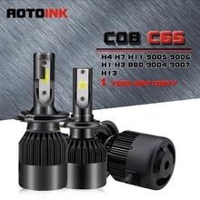 AOTOINK 2x H1 H3 H4 H7 H8 H11 LED 9005 9006 H16 880 881 Car Headlight Fog Light 8000Lm CSP COB Led Fog Bulb Auto Headlamp