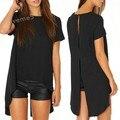 Women Summer Tops Short Sleeve Asymmetric Sexy T-Shirt Tops Tees