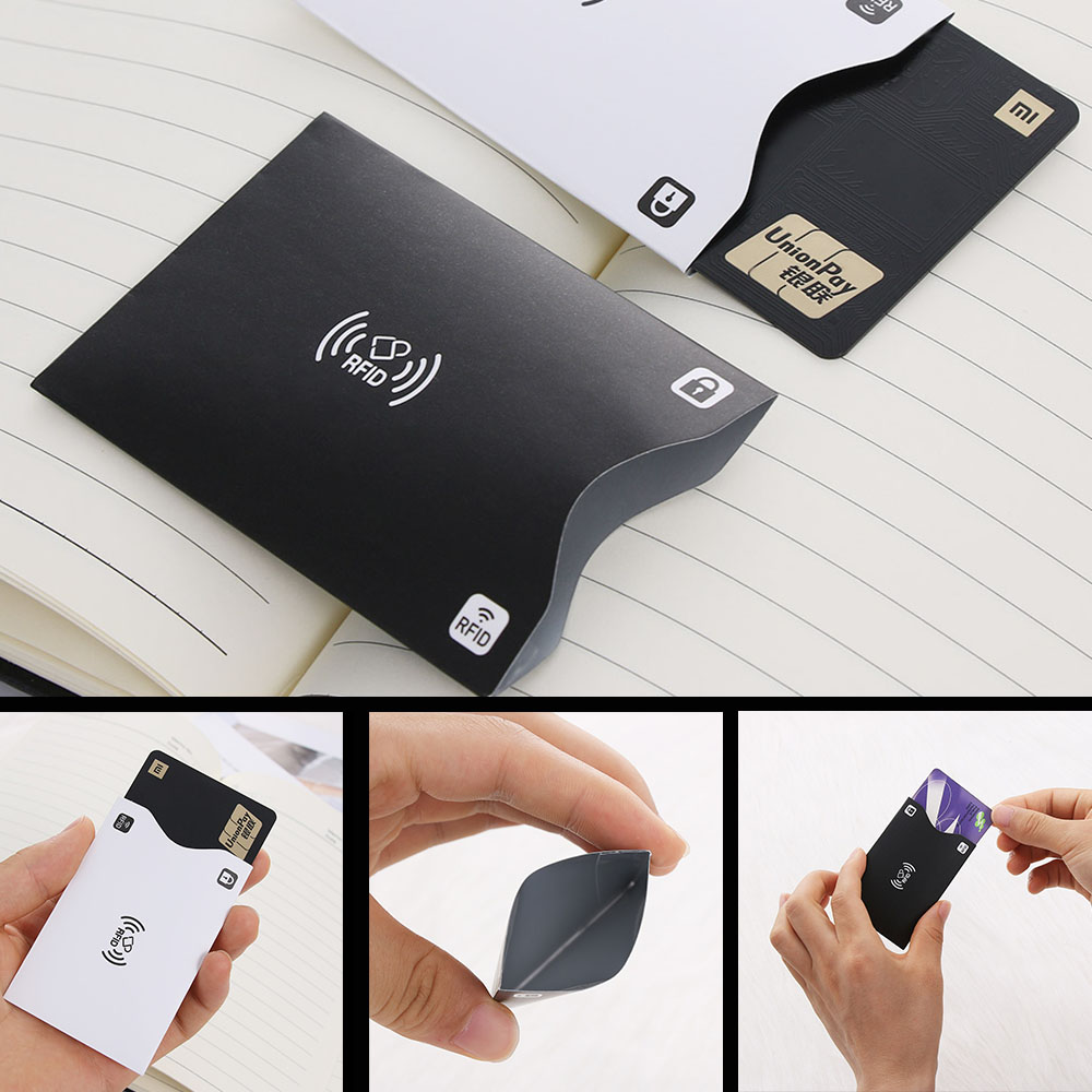 5PCS Aluminium Anti-Paper Rfid Blocking Holder Safety Reader Case Card Protect.