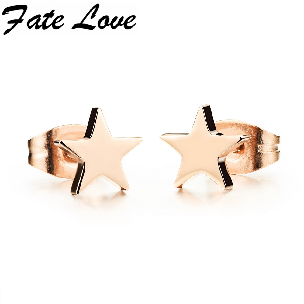 Hot New Fashion Cute Korean Style Earrings Women Favourite Tiny Star Stud Earrings For Classic Christmas New Years Gift FL297