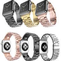 Per Apple Watch Band 42 millimetri Oro Nero Bracciale In Acciaio inossidabile Fibbia Della Cinghia Clip Adattatore Per Apple Watch Band 38mm Per iWatch