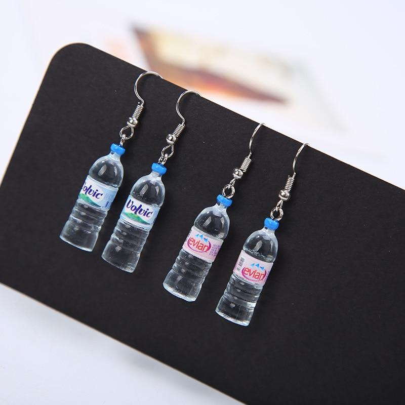 Vivid Little Mineral Water Bottle Pendant Silver Dangle
