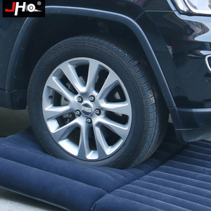 Image 4 - JHO SUV Car Inflatable Mattress Flocking Travel Air Bed With Air Pump Universal Auto Portable Outdoor Camping Moisture proof Pad