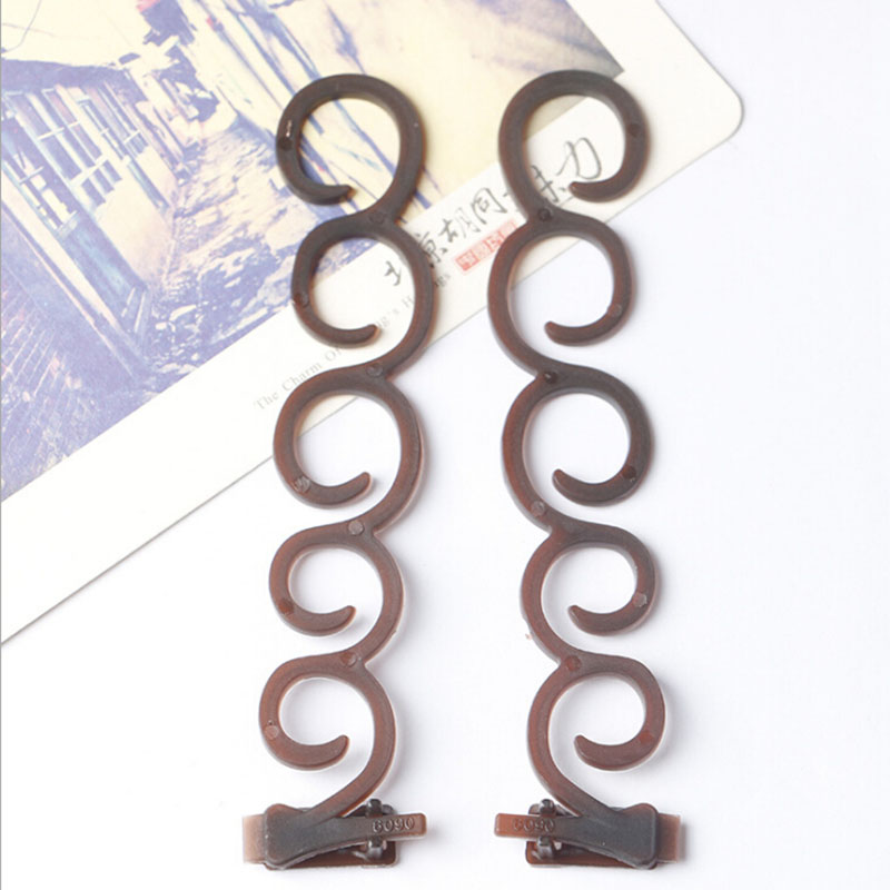 2pcs Women Hair Styling Former Magic Hair Twist Centipede Styling Braid Clip Stick Bun Maker DIY Tool hair Accessories Hot Sale