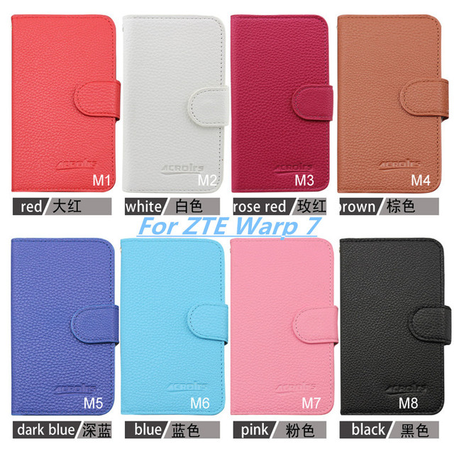 Premium PU Leather Wallet Flip Phone Case For ZTE Warp 7 N9519 Cover inside with credit card slots Free DHL